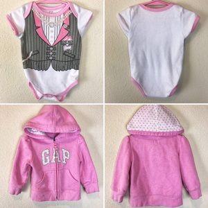 Girl Bundle Deal!! Tux Style Onesie & Pink Hoodie!